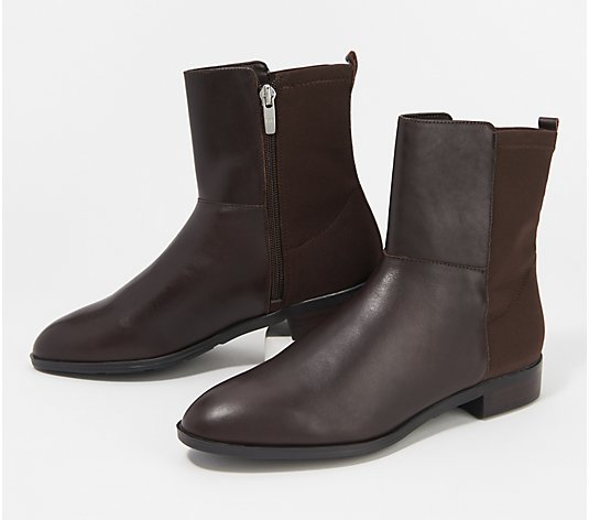 """As Is"" Marc Fisher Leather or Suede Ankle Boots - Oksana"