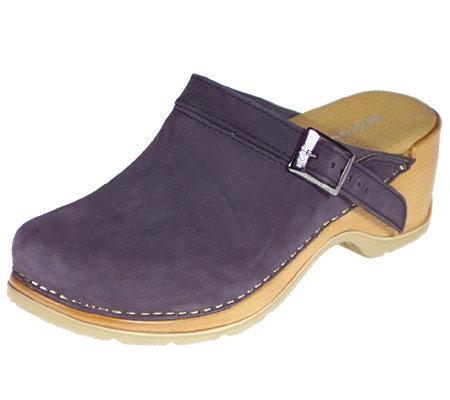 8bd08d83e0e6 Modellista Leather Backstrap Comfort Clogsw  — QVC.com
