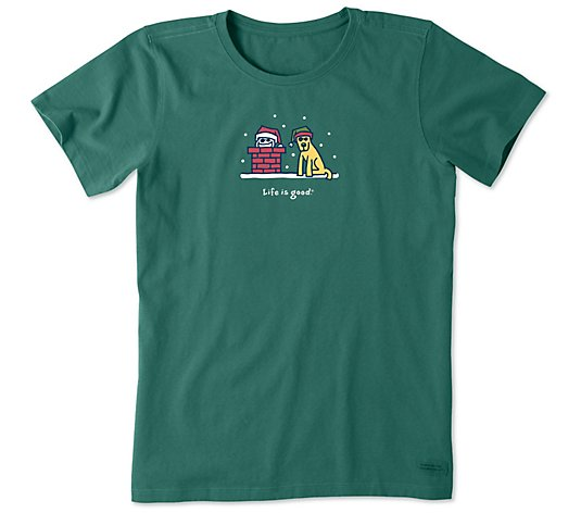 Life is Good Women's Jake and Rocket Chimney Crusher Tee