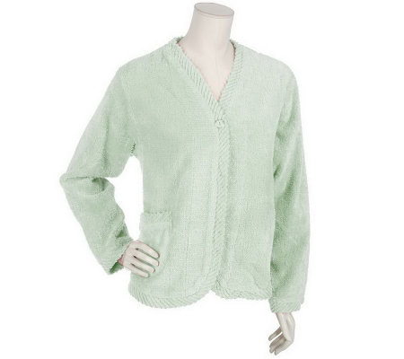 Stan Herman Chenille Bed Jacket with Bias Binding