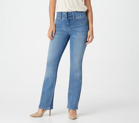 Laurie Felt Regular Curve Silky Denim Boot-Cut Jeans