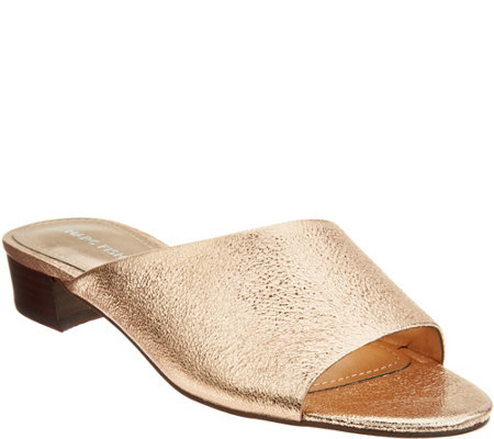 Marc Fisher Leather Heeled Mules - Oditi
