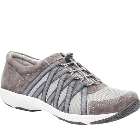 Dansko Lace Up Leather and Mesh Sneakers - Honor
