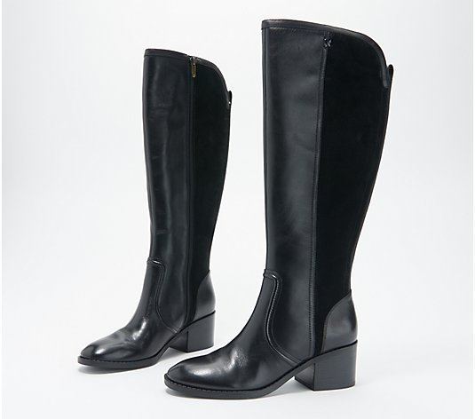 """As Is"" Marc Fisher Medium Calf Leather Tall Shaft Boots - Riyea"