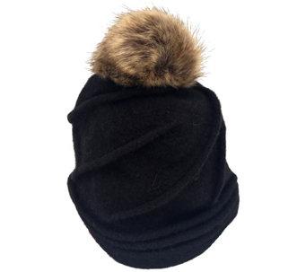 San Diego Hat Co. Women s Molded Beanie with Faux-Fur Pom-Pom - c63e3c0ff83f