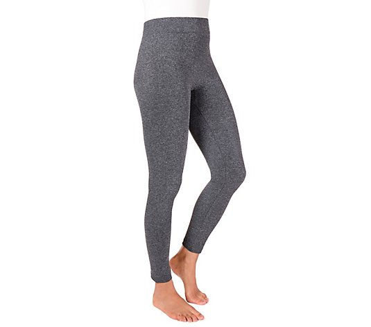 MUK LUKS Women's Marl Fleece-Lined Leggings