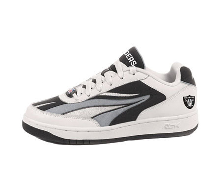 56118a82f98 NFL Reebok Oakland Raiders Recline PH Hook Kid s Sneakers — QVC.com