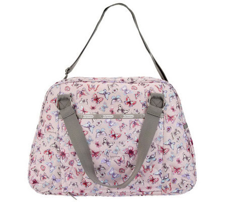 Lesportsac Printed Embroidered Abbey Carry On W Conv Straps