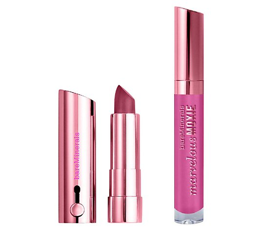 bareMinerals True Romantic Marvelous Moxie Lip Duo