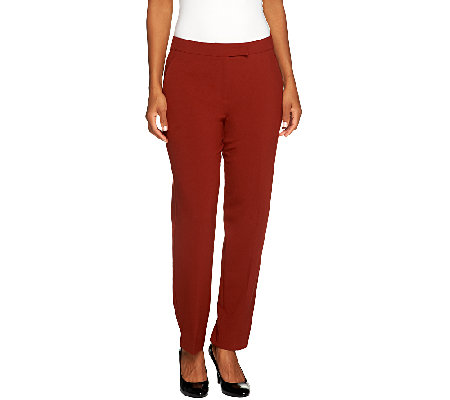 """As Is"" Susan Graver Petite Chelsea Stretch Pants with Pockets"
