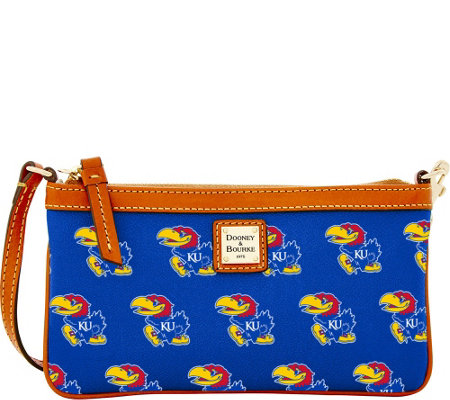 Dooney & Bourke NCAA University of Kansas Slim Wristlet