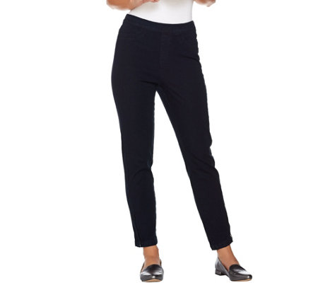 Isaac Mizrahi Live! Petite 24/7 Denim Ankle Jeans with Zips