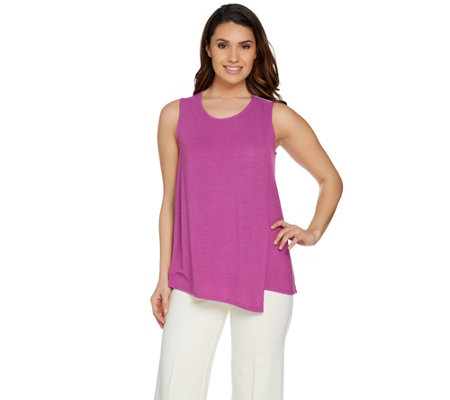 Lisa Rinna Collection Sleeveless Top with Overlay Detail