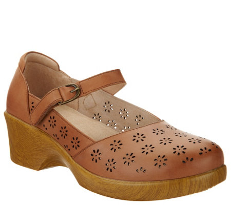 Alegria Perforated Leather Mary Janes - Rene