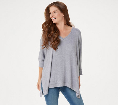 Laurie Felt Relaxed V-Neck Sweater