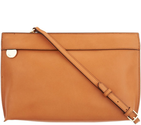 G I L I Leather Zip Front Convertible Pouch