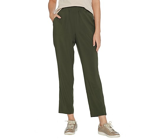 Denim & Co. Active Pull-On Ankle Pants with Pockets