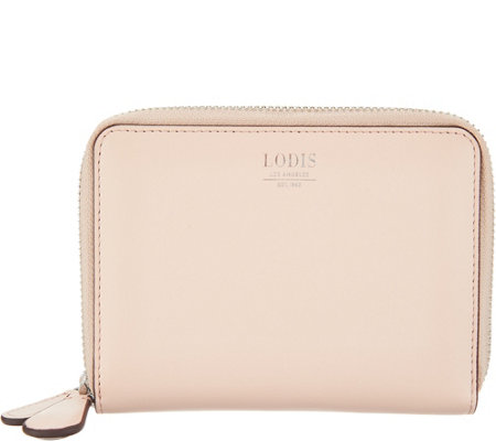 LODIS Los Angeles Italian Leather Double Zip Wallet - Laney