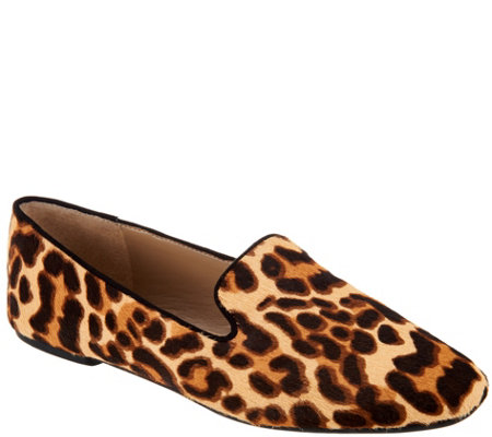"""As Is"" Enzo Angiolini Haircalf Slip-On Loafers - Leonie"