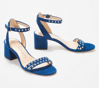 091242aedfc Sole Society Suede Ankle Strap Sandals with Studs- Hezzter - A346895
