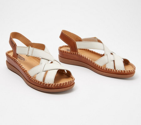 Pikolinos Leather Ankle Strap Sandals Cadaques