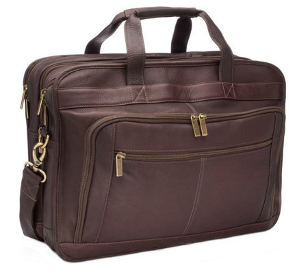 Le Donne Leather Oversized Laptop Briefcase