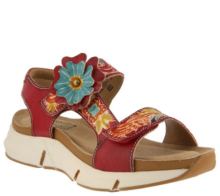 L'Artiste by Spring Step Leather Sandals - Vergie