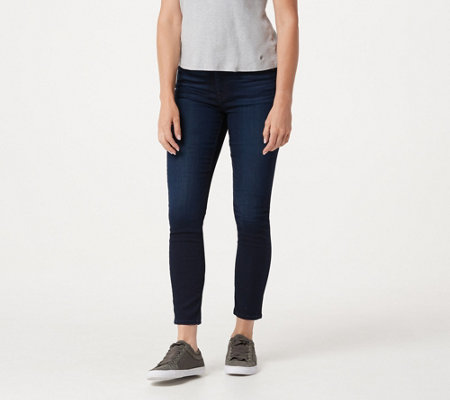 Jen7 by 7 for All Mankind Ankle Skinny Jeans- Blue/Black Wash