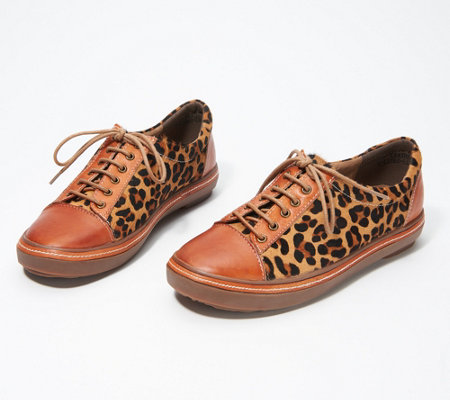 L'Artiste by Spring Step Leather Sneakers- Libbi-Leopard