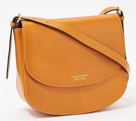 Tignanello Morocco Leather Saddle Crossbody - Milan