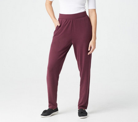 Denim & Co. Active Regular Heavenly Jersey Straight Leg Pants