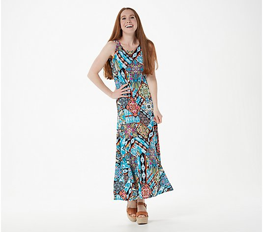"""As Is"" Attitudes by Renee Petite Jersey Godet Maxi Dress"