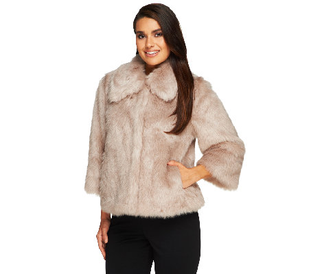 Dennis Basso Platinum Collection Faux Fox Chubby Shrug
