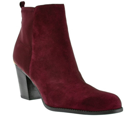 Marc Fisher Leather & Stretch Ankle Boots - Frenchie