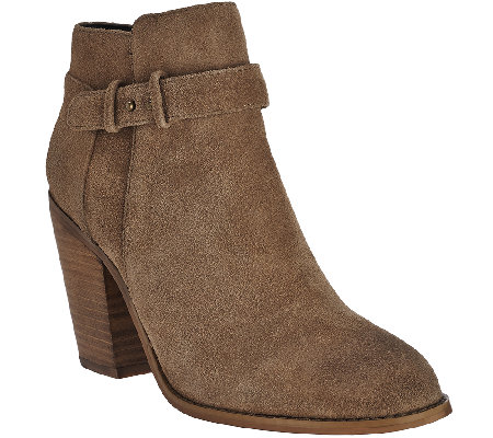 Sole Society Suede Ankle Boots - Lyriq