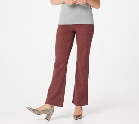 Women with Control Petite Herringbone Boot Cut Pants
