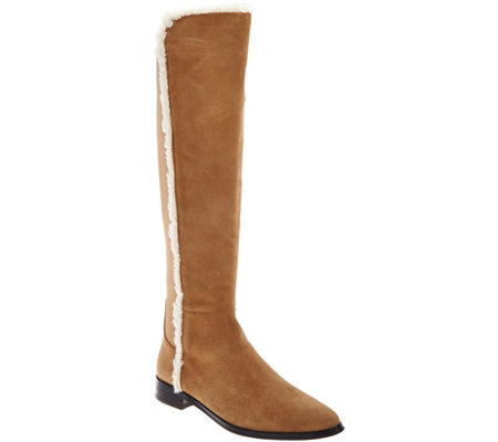 G.I.L.I. Shearling & Suede Tall Shaft Boot- Daveen