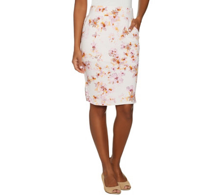 LOGO Lounge by Lori Goldstein French Terry Printed Skirt