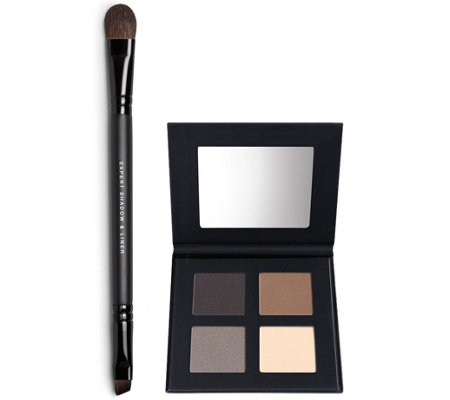 bareMinerals Smoky EyeQuad with Double-Ended Brush