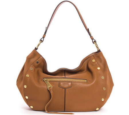 Aimee Kestenberg Pebble Leather Hobo Handbag- Charlie