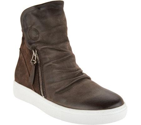 00d2d69cd189 Miz Mooz High-Top Leather Zip-up Sneakers - Lavinia - Page 1 — QVC.com