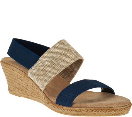 Charleston Shoe Co. Colorblocked Wedge Sandals - Cooper
