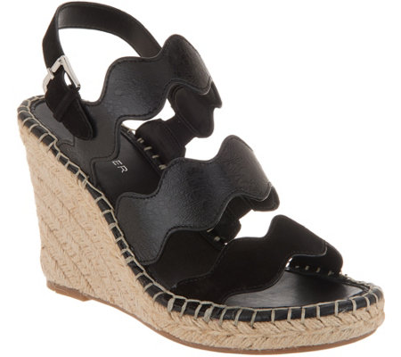 Marc Fisher Leather Espadrille Sandals - Karida