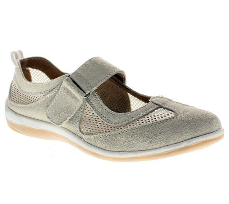 Spring Step Outrun Leather and Mesh Mary Janes