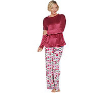 Cuddl Duds Petite Ultra Plush Velvet Fleece Novelty Pajama Set - A342096