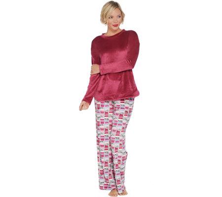 Cuddl Duds Petite Ultra Plush Velvet Fleece Novelty Pajama Set . 4744af56f
