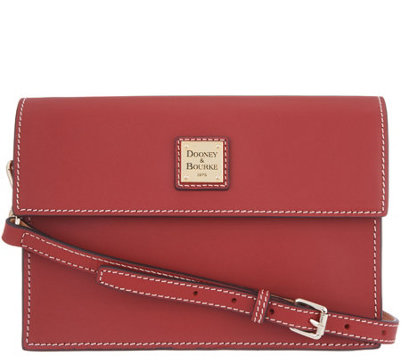As Is Dooney Bourke Vachetta Leather East West Crossbody