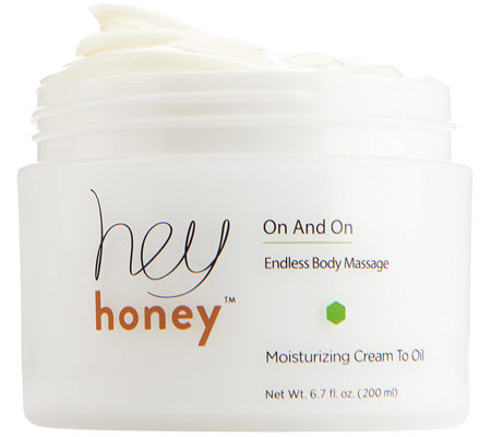 Hey Honey On and On Cream to Oil Body Massage 6.7 oz