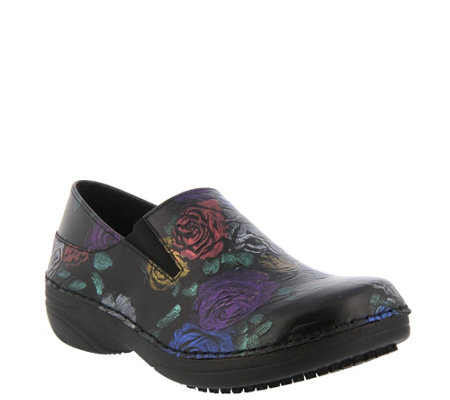 Spring Step Professional Leather Slip-On Shoes- Manila-Rose