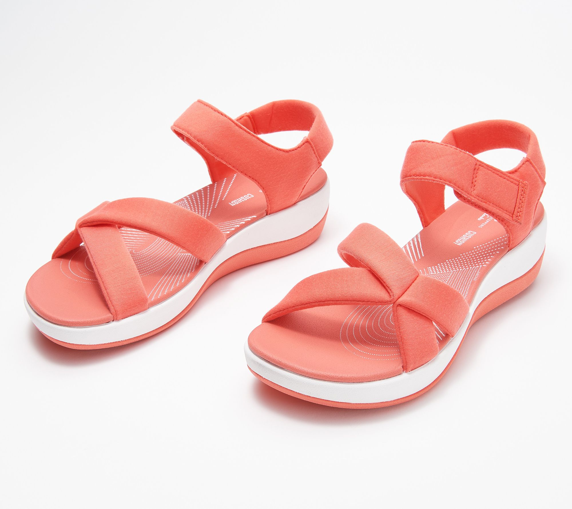 CLOUDSTEPPERS by Clarks Jersey Sport Sandals - Arla Gracie - QVC.com